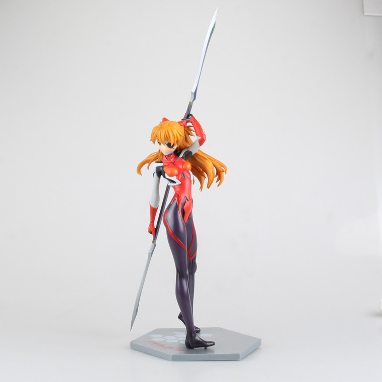 SAINTGI Anime EVA Neon Genesis Evangelion Asuka Langley Soryu PVC Action Figure Collection Model Toy 27CM Free Shipping nendoroid eva neon genesis evangelion soryu ayanami rei 467 asuka langley 468 pvc action figure collection model doll toy