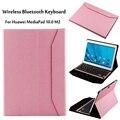 Для Huawei Mediapad M2 10.0 case Беспроводная Связь Bluetooth Алюминий Клавиатура Case Для huawei M2-A01L M2-A01M M2-A01W обложка + Подарок