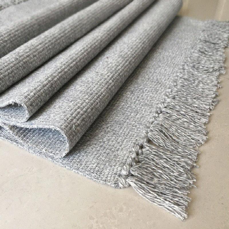 WINLIFE Cotton Blending Fiber Carpets Decorative Area Rugs For Living Room/Bedroom Entrance Doormat Bedside Rugs Washable Mats|Carpet|   - AliExpress