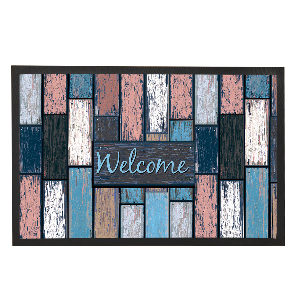 Rubber floor mats price - Colorful Lattice Geometric Pattern Of Welcome Floor Mats Stylish Rubber Non Woven Fabric Popular Kids