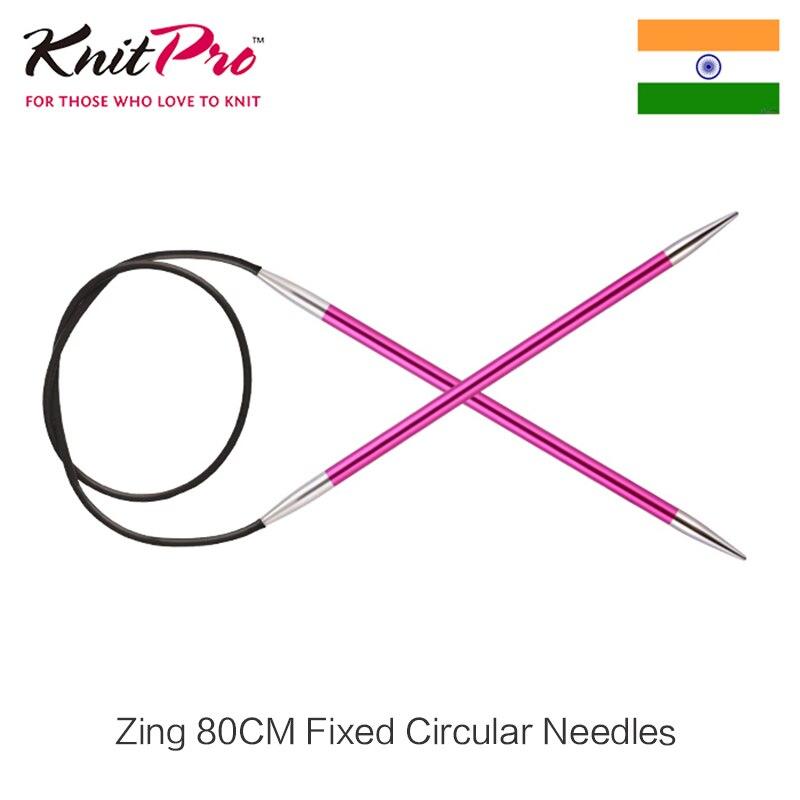 1 piece Knitpro Zing 80 cm Fixed Circular Knitting Needle Colorful aluminium DIY Arts crafts sewing