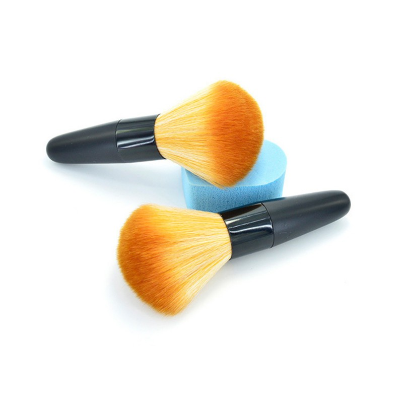 Wood Handle Flat Top Cosmetic font b Makeup b font Make Up Cosmetic Eyeshadow Foundation Concealer