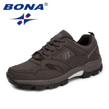 BONA New Classics Style Men Hiking Shoes Lace Up Men Athletic Shoes Outdoor Jogging Sneakers Comfortable Soft Fast Free Shipping
