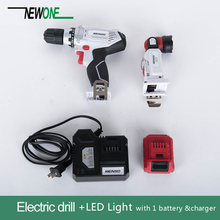Double Speed Electric Drill with 12V Lithium Battery Power Tool cordless plus LED Light