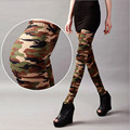 Deportes Leggins Leopard Nine Leggings Camouflage Women Graffiti Style Slim Pants Elastic Stretch Cotton Army Trouser K085