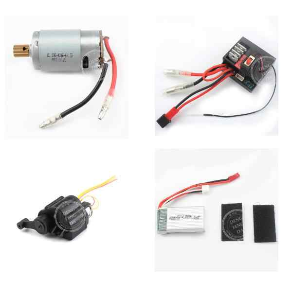 Wltoys 124301 124302 Military truck RC Car spare parts motor servo Receiver battery