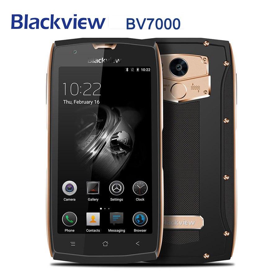 Blackview BV7000 Android 7.0G LTE 4 2 Polegada MT6737T Quad Core Telefone Móvel Celular 5.0 GB + 16GB impressão digital Smartphones Originais
