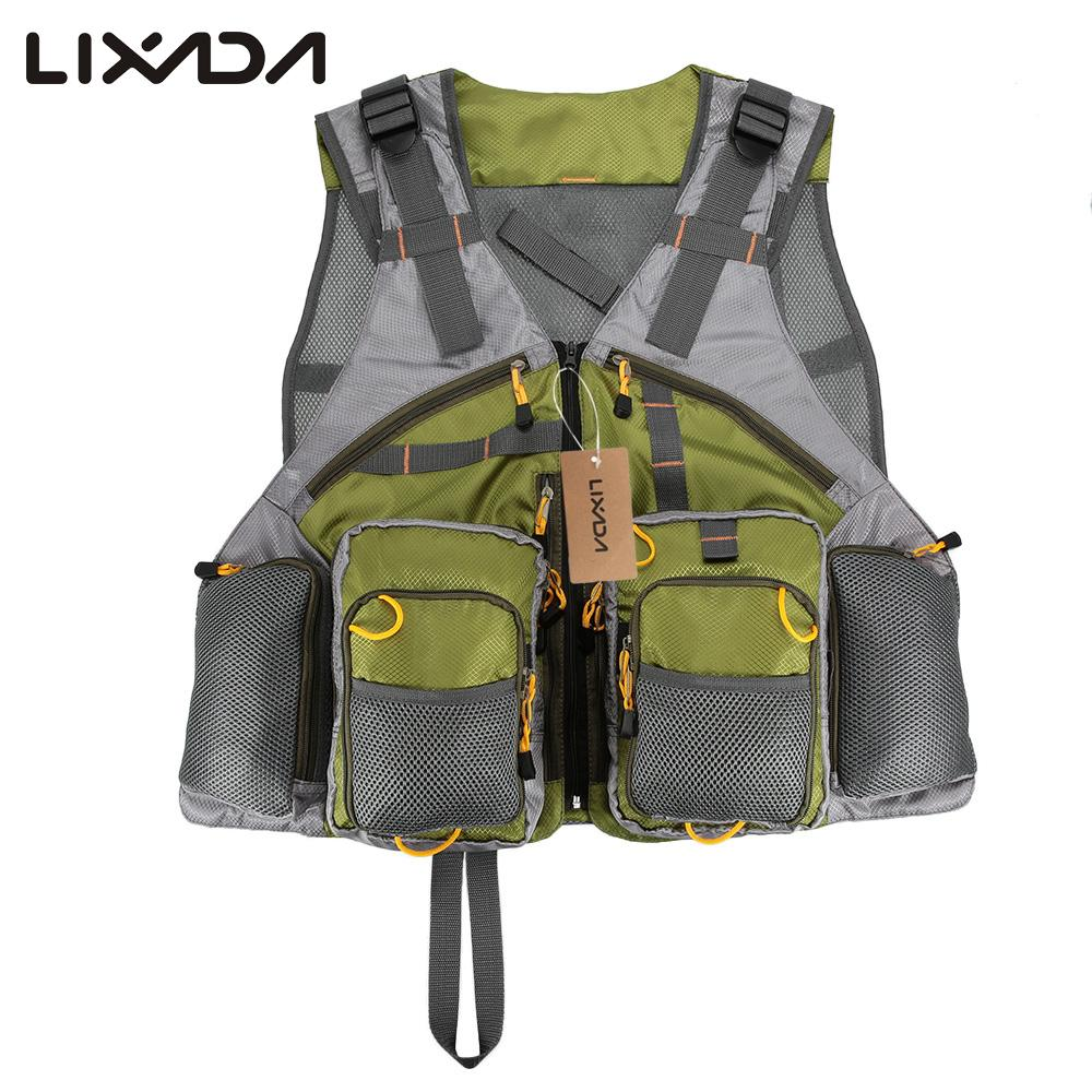 Lixada adjustable fly fishing vest premium gear packs and for Women s fishing vest