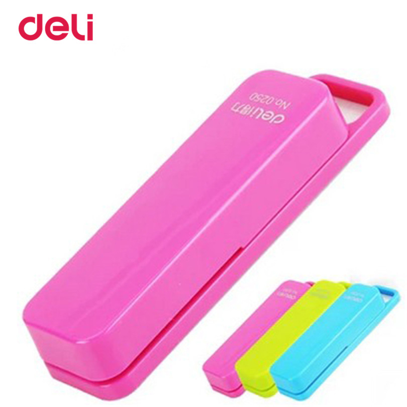Deli New Stapler Book Sewer Cartoon With A Box Stapler Pin Office Supplies Stationery 80*20*15mm High Quality Stapler
