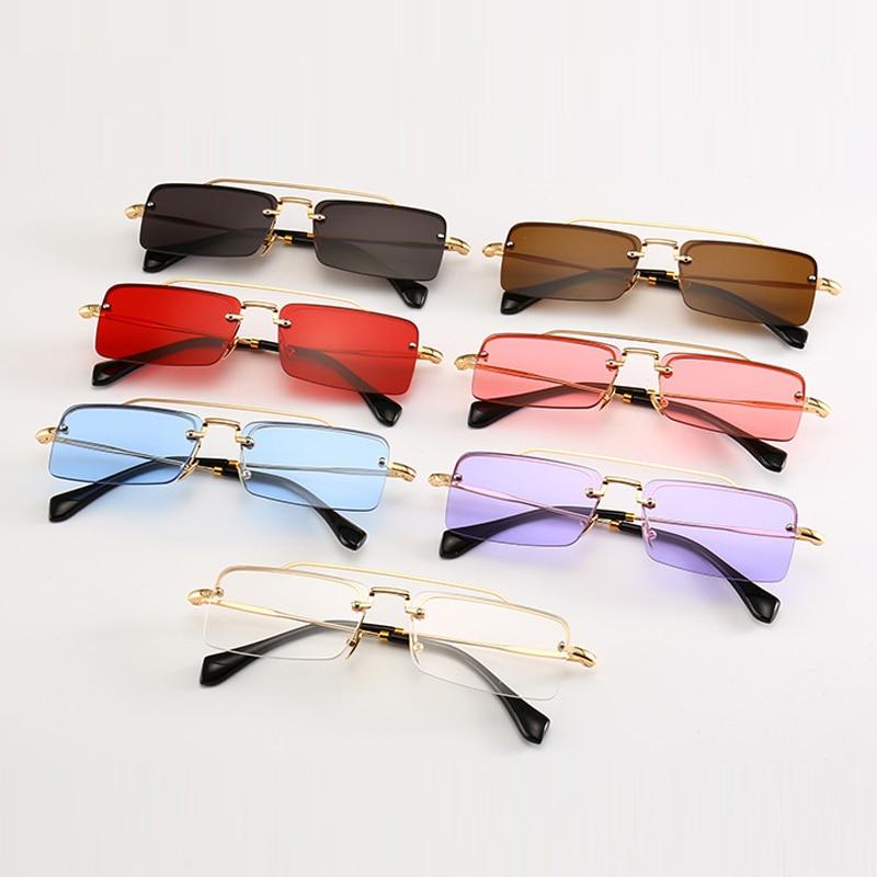 Kvadrātveida Saulesbrilles vīriešiem Sieviešu Vintage dizains - Apģērba piederumi
