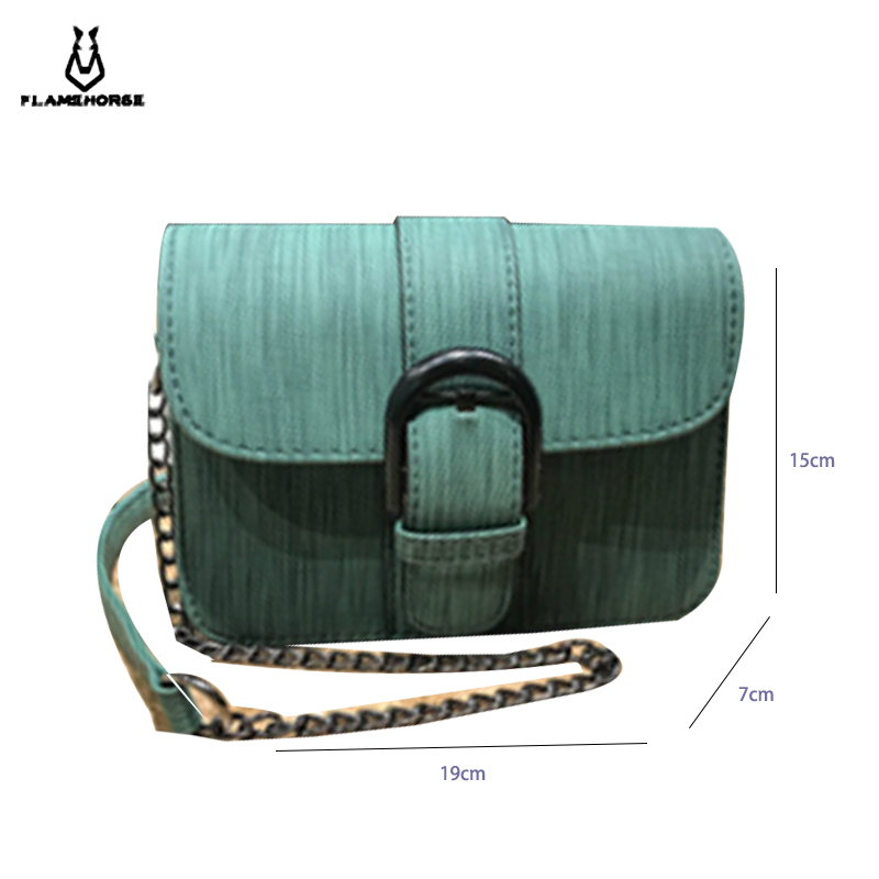 Fashion Simple Small Square Bag Women 39 s Designer Handbag 2019 High quality PU Leather Chain Mobile Phone Shoulder bags in Top Handle Bags from Luggage amp Bags