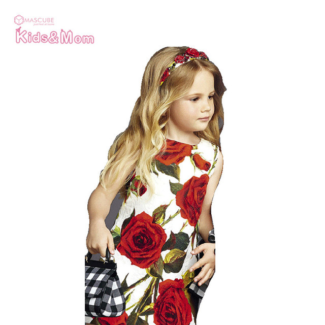 Aliexpress.com : Buy Kids Dress Rose Floral Pattern A Line Baby ...