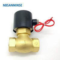 NBSANMINSE High Temperature Steam Valve US 15 20 25 1/2 3/4 1 Brass Solenoid Valve Air Valve for Water Oil Air Gas 2018