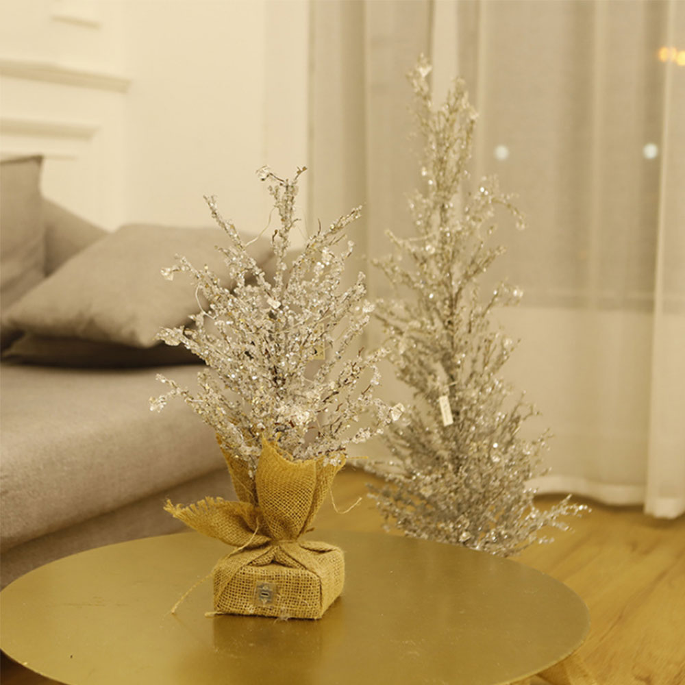 Хрустальный ледяное дерево светодиодный ночник USB мощность украшения дома Дерево атмосферная настольная лампа Освещение для дома и свадьб... - 6
