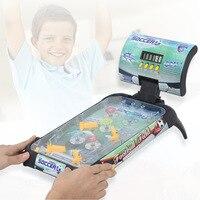 재미있는 어린이 장난감, 테이블 탑 전기 빛 축구 게임 플랫폼 장난감 모델 어린이