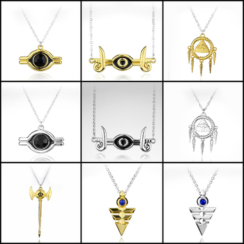 Anime Yu-Gi-Oh Millenium Puzzle Necklace 3D Yugioh Pendant Necklace Long Chain Cosplay Jewelry Collar image