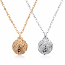 Louleur New Punk Basketball KC Gold/Rhodium Color Pendants Necklaces Copper Chain Charms For Women Jewelry