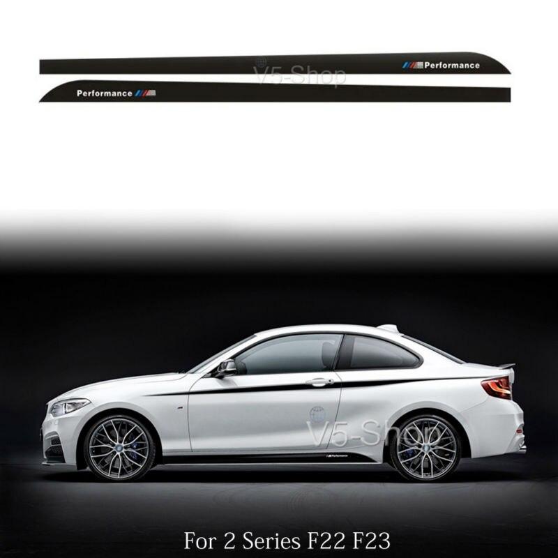 4 PCS Graphics Performance Car Sticker Door Handle Decal Fit BMW 220i 520i M5 M6