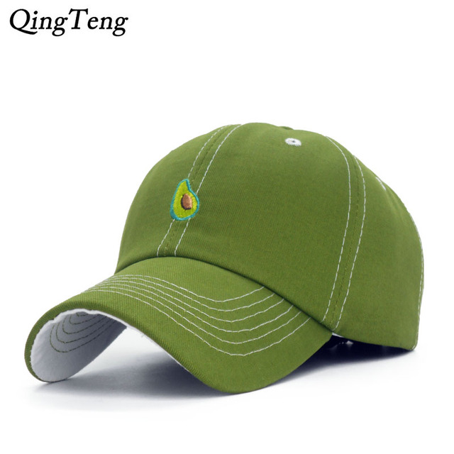 Green Avocado Baseball Cap Women Purple Grape Snapback Caps Casual Yellow  Banana Bone Orange Gorras Cotton Fruit Casquette 102078bbc3db