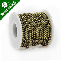 2.4MM Brass Antique Bronze Plated Ball Chain,Handmade,Sold 25 Meters Per Roll
