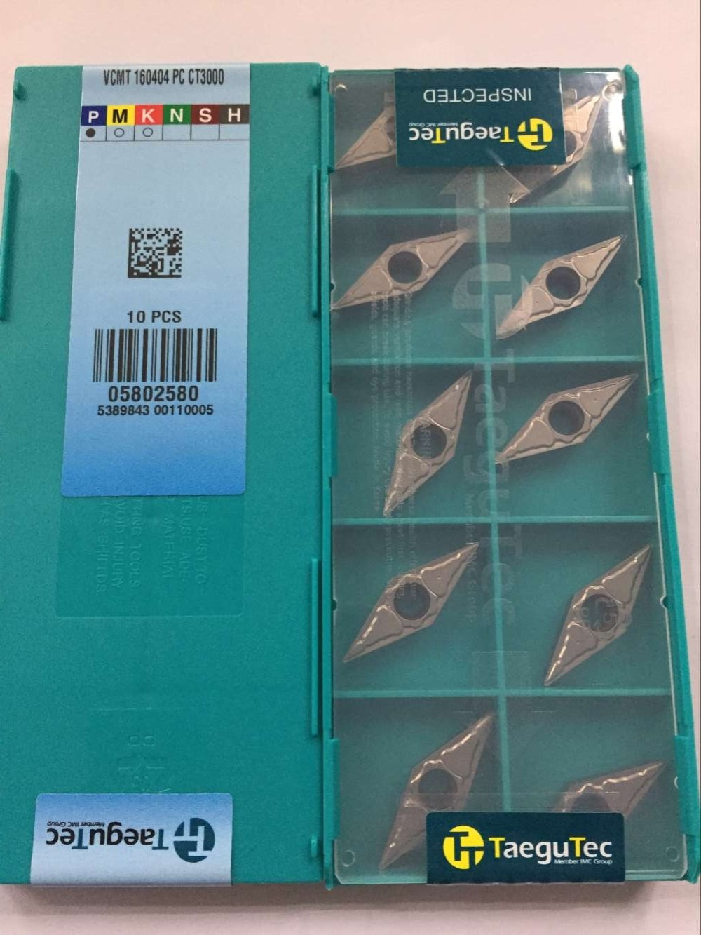 VCMT160404PC CT3000 tungsten carbide inserts turning tools Taegutec <font><b>VCMT</b></font> <font><b>160404</b></font> PC CT3000 image