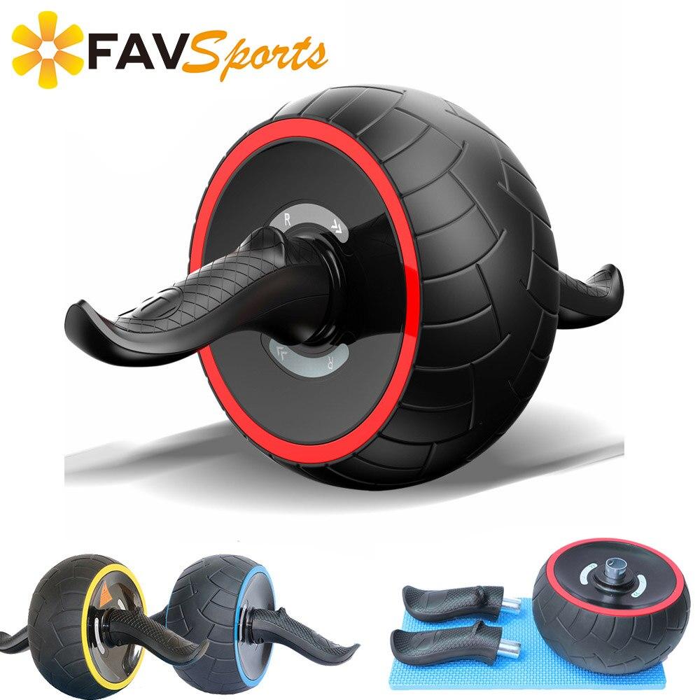 Appareil de Musculation Abdominale AB Roller avec Tapis ABS Gymnastique Abdominale D'entraînement Fitness Puissance Exercices de Rouleau Matériel