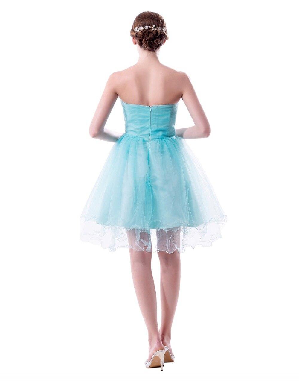 Turquoise Burgundy Short Bridesmaid Dresses 2018 Strapless Wedding ...