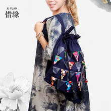 XIYUAN НОВЫЙ прибыл Женщины Ручной Работы Вышитые цветочные рюкзак Случайные твердые сумка мини Ретро женщины путешествия рюкзак