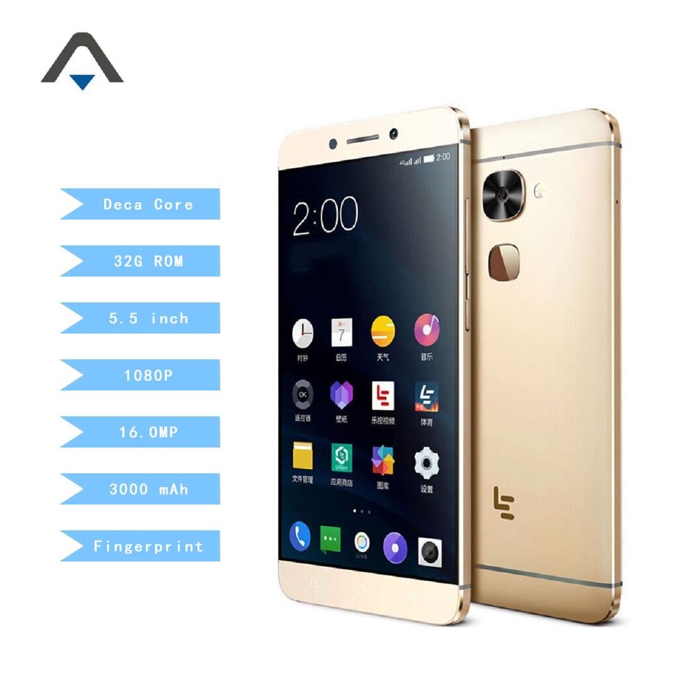 bilder für Original leeco letv s3 x622/x626 smartphone Deca Core 3G/4G RAM 32G ROM 5,5 zoll 3000 mah 1080 P FHD 16MP/21MP Fingerabdruck ID