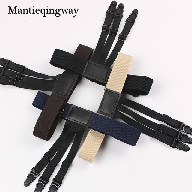 Mantieqingway 1 Pair Men's Suspensorio Shirt Holders For Men Tirantes  Hombre Ajustables Jartiyer Elastic Garter Belt For Shirts