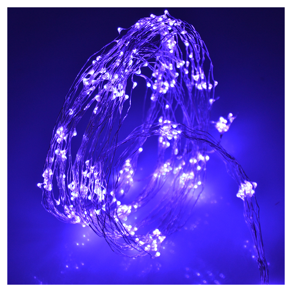 LED String Light Copper Wire Bedroom LED Fairy Starry Lights for Garden Path Xmas Christmas Tree Decora(40 LEDs, Purple, 13ft)