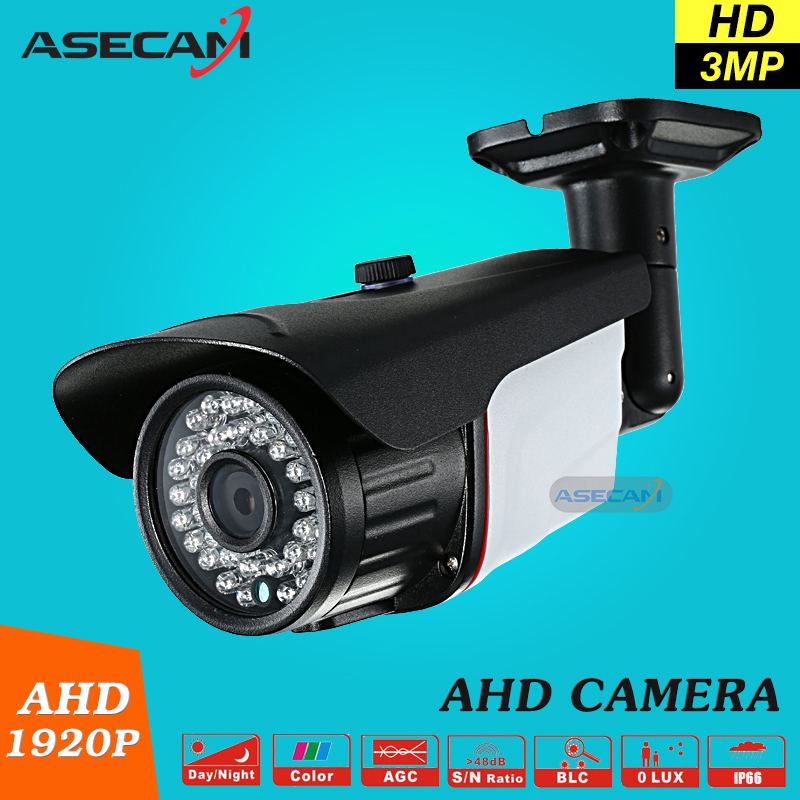 New Super 3MP 1920P AHD Camera Security CCTV Metal Black Bullet Video Surveillance Outdoor Waterproof 36 infrared Night Vision new cctv ahd hd 960p surveillance waterproof outdoor metal bullet security camera infrared night vision 50meter