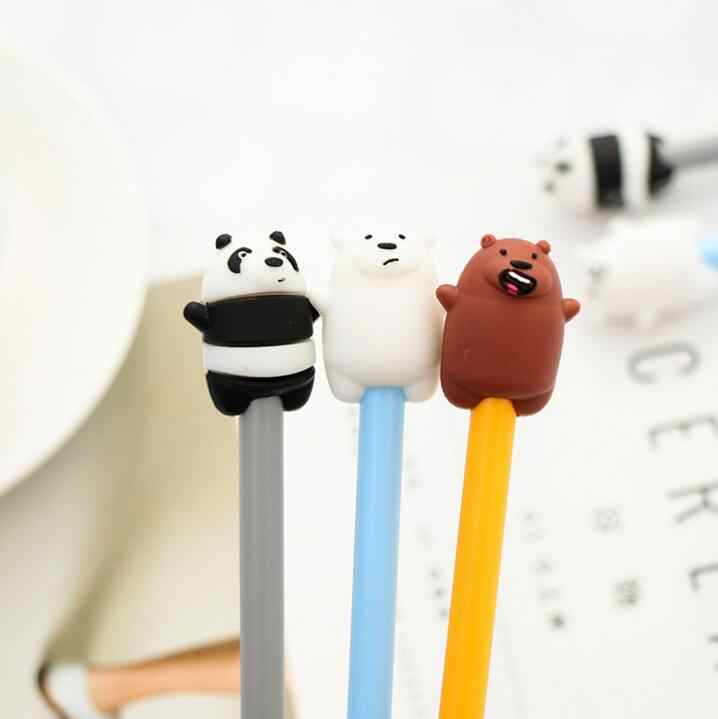 3 шт./лот Корейская Милая Канцелярия милые ручки мультфильм ручка с животными панда Ручка гелевая с медведем, модная школьная письменная работа в офисе расходные материалы