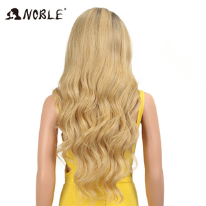 Image 3 - Noble Hair Lace Front ombre blonde Wig 28 inch Long wavy red african american Synthetic Wigs For Black Women 2 COLOUR Free Ship