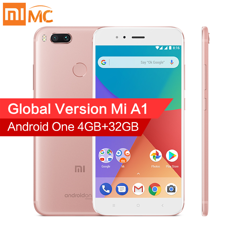 Versión Global Xiao mi A1 4 GB RAM 32 GB ROM teléfonos móviles 5,5 ''1080 p Snapdragon 625 octa Core Dual 12.0MP Android 7.1.2 CE FCC