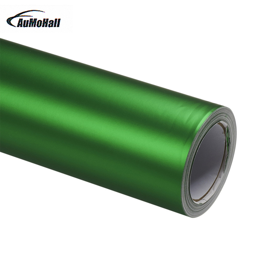 AUMOHALL Car Carbon Fibre Body Films Vinyl Car Wrap Green Sticker Decal DIY PVC Auto Whole Body Film 152cm long Car Styling цена