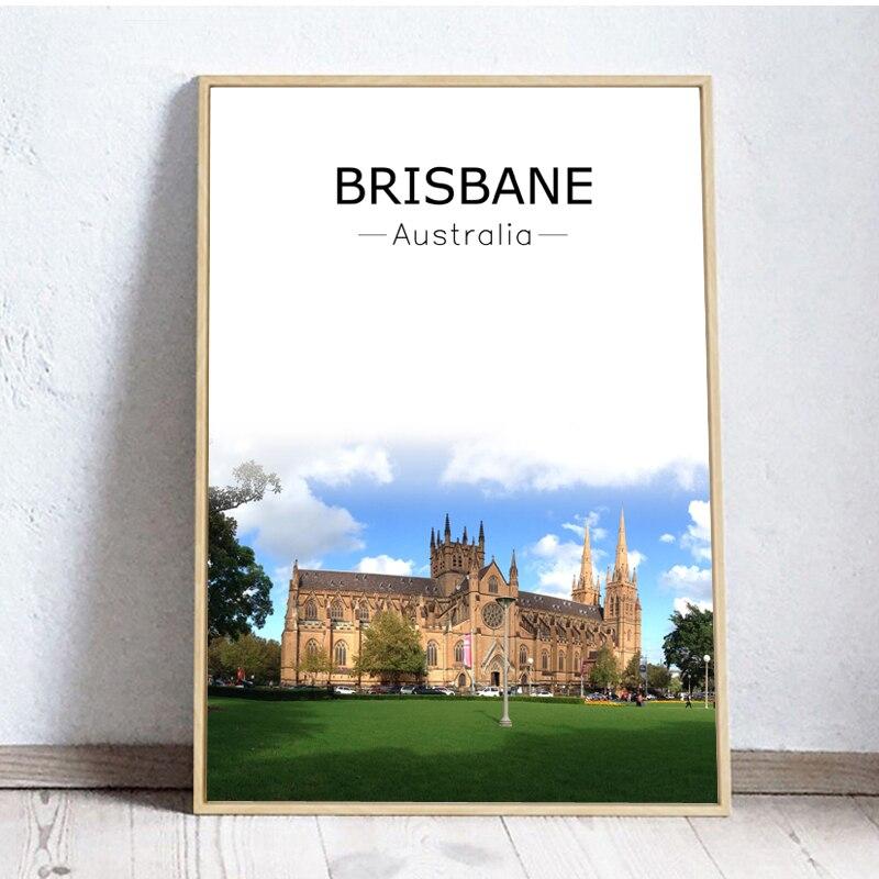 Original Modern Australia Brisbane Canvas Art Print