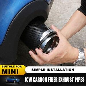 Image 2 - Hot koop Voor Mini Cooper auto styling koolstofvezel uitlaatpijpen Uitlaat geschikt voor R55 R56 R60 R61 F55 f56 F54 auto uitlaat
