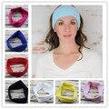 Yoga del deporte de la venda del pañuelo Turbante hijab para mujeres Stretch Headwrap suave venda del algodón del estiramiento Turbante accesorios para el cabello 1 unid