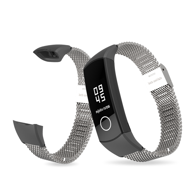 Image 2 - Mijobs Milanese Metal Strap for Huawei Honor Band 4 Strap Smart Accessories Stainless Steel Wristband for Honor Band 5 Bracelet-in Smart Accessories from Consumer Electronics