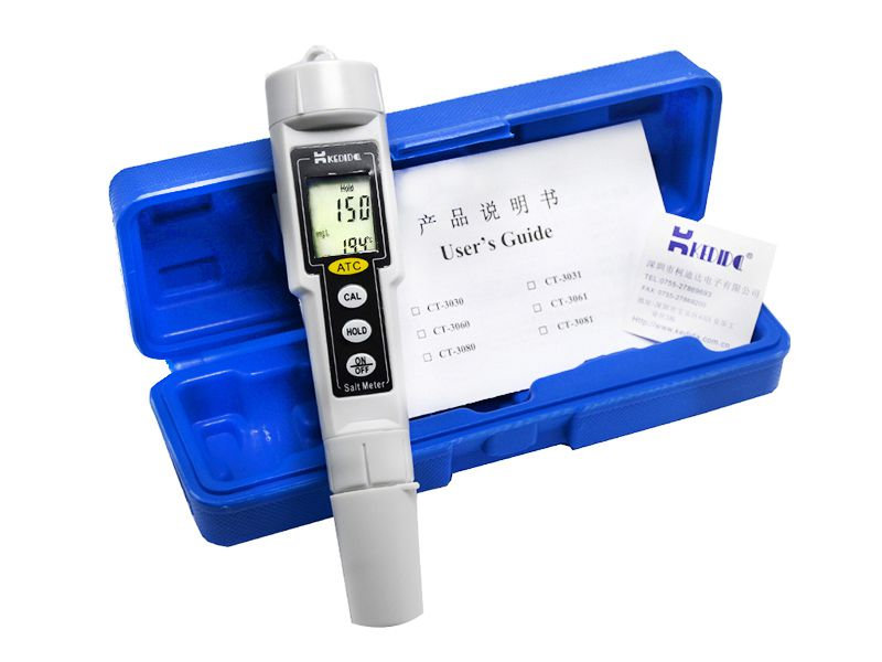 Kedida stylo Type compteur de sel ATC LCD Aquarium qualité de l'eau testeur de piscine de sel testeur de température de salinité numérique salinomètre 0-9999 mg/L