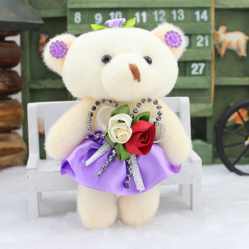 Promoção 12 pçs adorável ursos brinquedos para buquê de alta qualidade macio pelúcia brinquedos mini teddy bears bonecas presentes do dia dos namorados