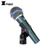 BT-58A Pro Interruptor Handheld Microfone Dinâmico Vocal Microfone Com Clipe Mic Para beta58a Sistema Igreja Falar Cantar Karaoke Amplificador