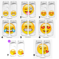 1 Par Lindo Smiley Face Emoticonos Smiley Emoticon Icono Emoción Divertidos Calcetines 3D Impreso Niña Calcetín calcetines Del Piso Niño calcetines