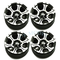 "4pcs/lot RC Rock Crawler 1/10 scale 1.9"" Beadlock Alloy Wheels Rims For RC4WD SCX10 CC01 Top Quality Free Shipping"