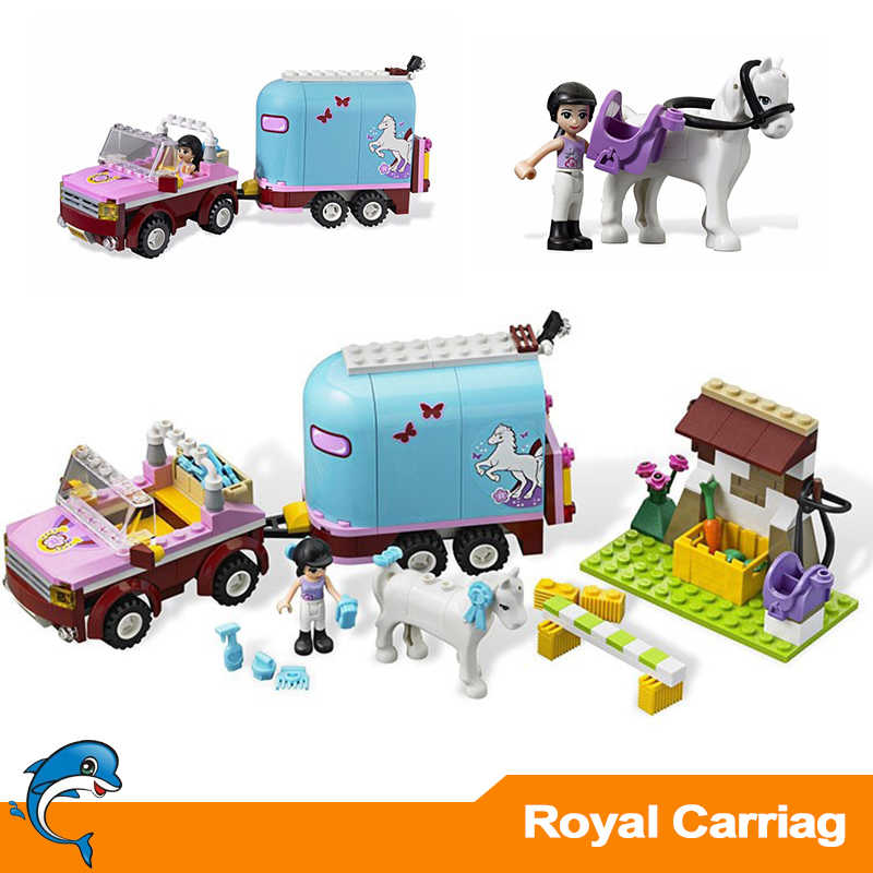 10161 Horse Farm Emma's Trailer Building Brick Blocks Compatible Legoinglys 3186 playmobil Friends Heartlake Set Toys Girls Gift