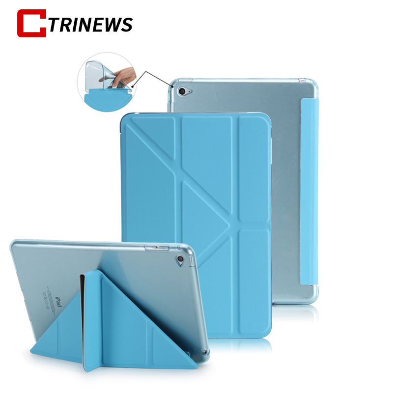 CTRINEWS Cover For Apple iPad Air 2 Smart Leather Case Multi Shape Folding Auto Wake Up Sleep Case For iPad Air 2 TPU Back Cases ctrinews flip case for ipad air 2 smart stand pu leather case for ipad air 2 tablet protective case wake up sleep cover coque