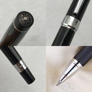Image 3 - Pimio 917 الفاخرة الأسود والفضي كليب الرول الكرة القلم مع 0.7 مللي متر الأسود الحبر الملء مع الأصلي هدية صندوق أقلام حبر جاف هدية