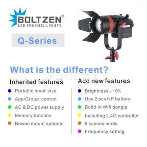 Image 5 - 3 Pcs CAME TV Q 55S Boltzen 55w Hohe Leistung Fresnel Fokussierbare LED Bi Farbe Kit Led video licht
