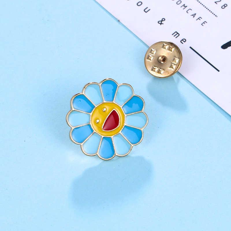 Baiduqiandu Baru Lucu Bunga Matahari Enamel untuk Pakaian/Tas/Topi//Sepatu Dll